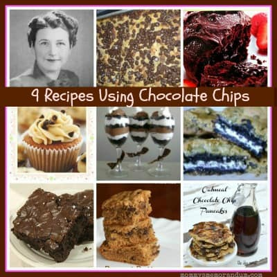 Chocolate Chip Recipe Collage