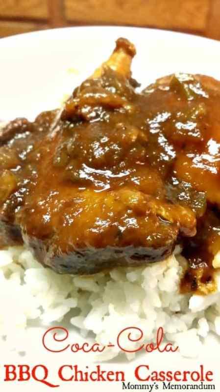 Coca-Cola BBQ Chicken Casserole #Recipe