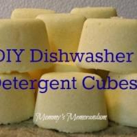 How to Make Dishwasher Detergent Cubes