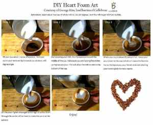 #DIY Step-By-Step Heart Foam Art