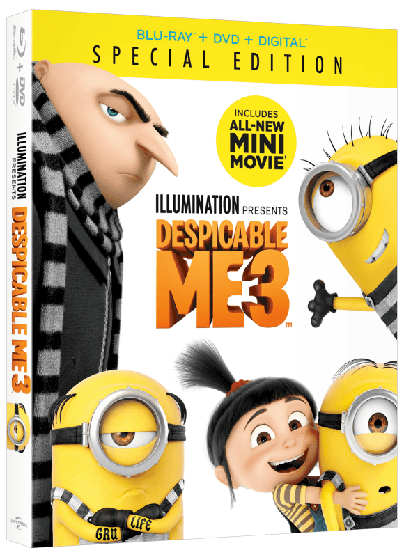 Despicable Me 3 Special Edition arrives on Digital November 21st and Blu-Ray and DVD December 5th