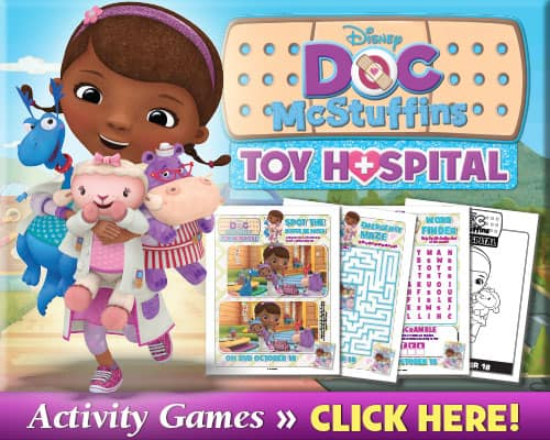 Doc McStuffins Free Printable Activity Sheets!