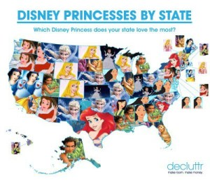 Which Disney Princess is the Most Popular in Your State?