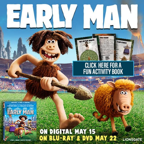 Early Man Activities You Can Download and Print for Free, free printables, lionsgate, free printable activity sheets, activity sheets
