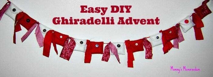 Easy #DIY Ghiradelli Advent