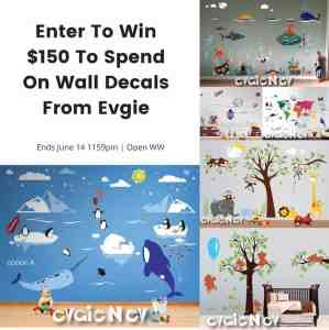 Win $150 to Spend on Wall Decals by Evgie
