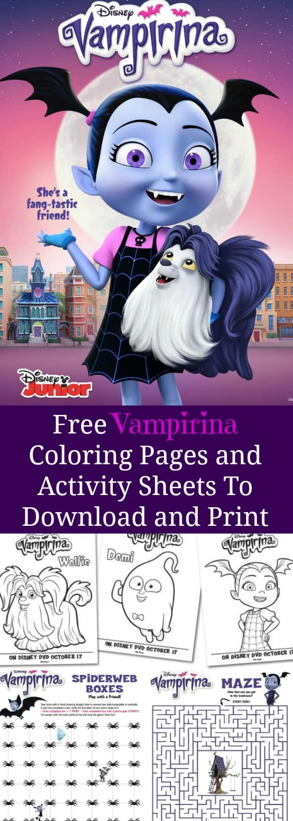 Free Vampirina Coloring Pages and Activity Sheets To Download and Print