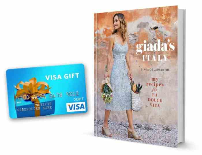 giada's italy with $50 visa gift card giveaway