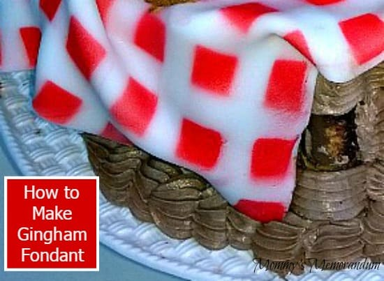 How to Make Gingham Fondant