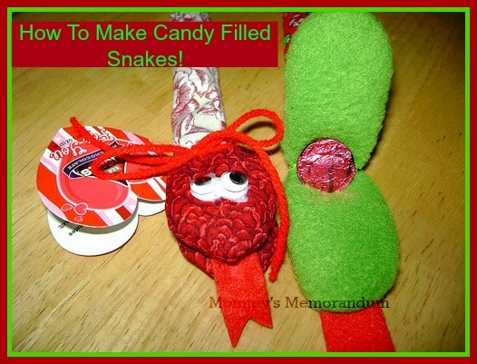 candy filled snake favors