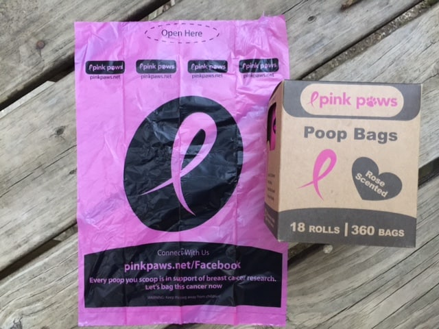 360-Count Pink Paws Dog Waste Bags