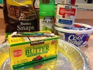 ingredients for Key lime margarita pie