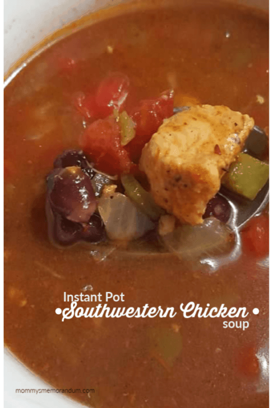 Instant Pot Southwestern Chicken Soup