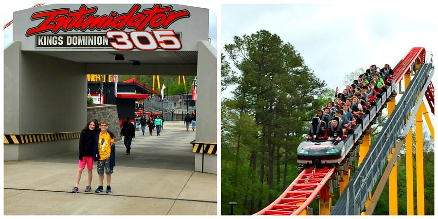 Kings Dominion Intimidator 305 Collage