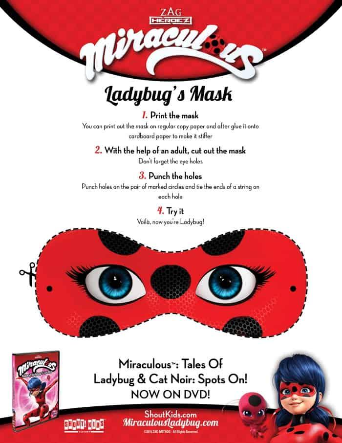 Ladybug Mask Activity Sheet