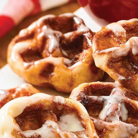 Morning Waffled Cinnamon Rolls Recipe