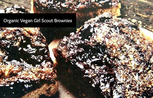 Organic Vegan Girl Scout Brownies #Recipe
