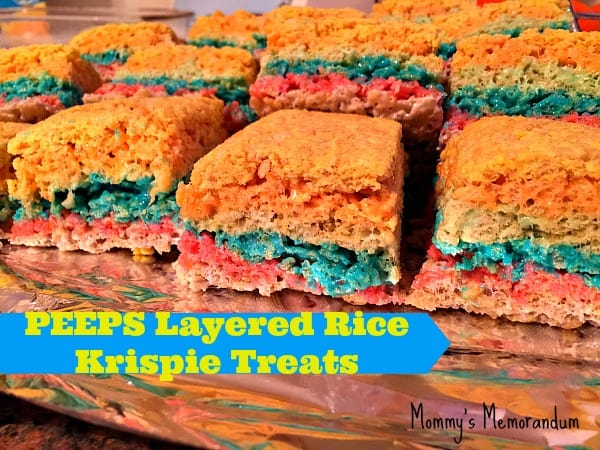 PEEPS Layered Rice Krispie Treats