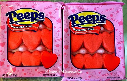 PEEPS Strawberry Creme Marshmallow Hearts