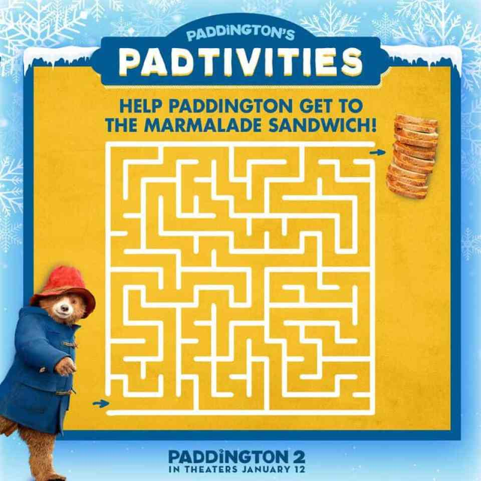 Paddington 2 Free Activity Sheets