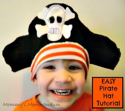 Easy Pirate Hat Tutorial #DIY