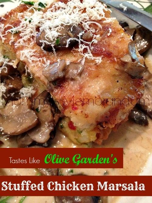 Stuffed Chicken Marsala #Recipe #CopyCat #olivegarden #nom