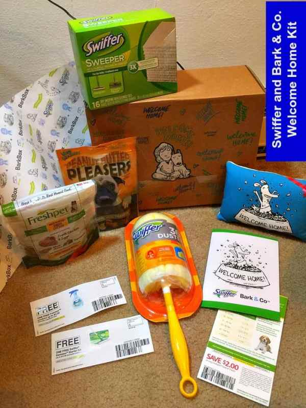 Swiffer and Bark & Co.wilcome home kit