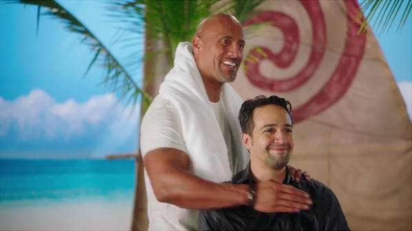 Fun Facts from MOANA the rock and lin manuel