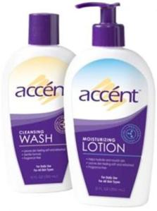 #Win accént Cleansing Wash and Moisturizing Lotion Skincare