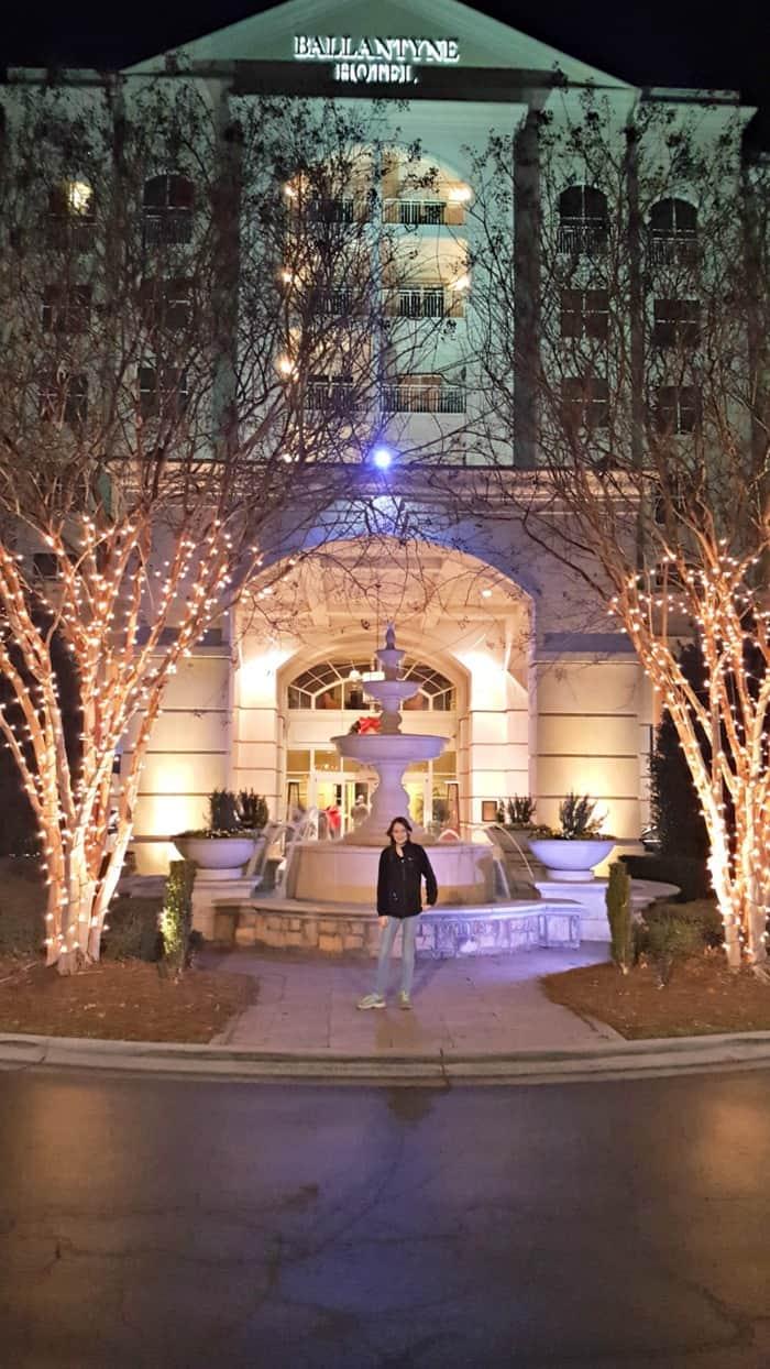 ballantyne hotel lit up
