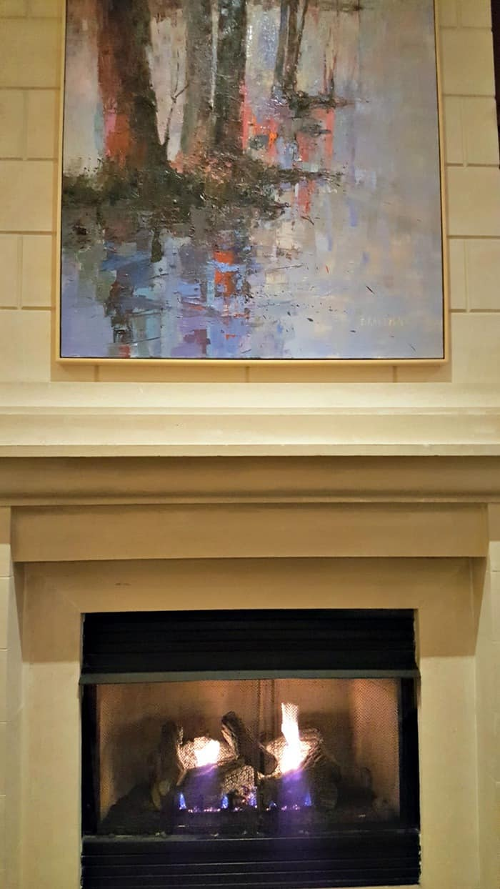 ballantyne hotel lobby fireplace