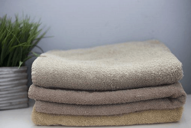 bath towels folded