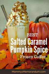 Copycat Starbucks Salted Caramel Pumpkin Spice Frozen Coffee Recipe