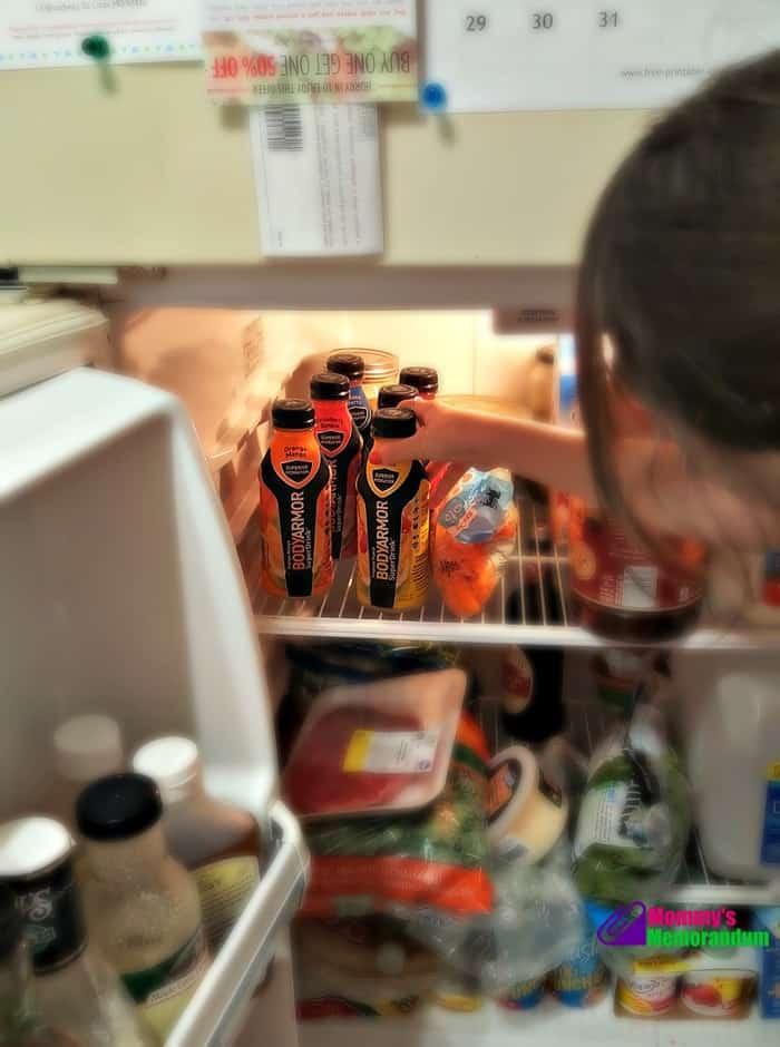 bodyarmor sports drink in refrigerator