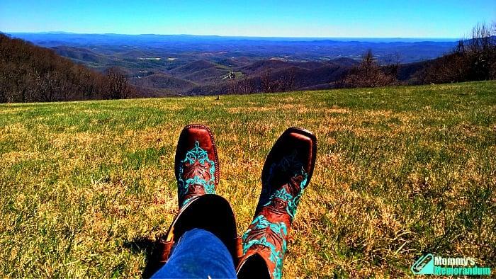cavenders boots blue ridge parkway