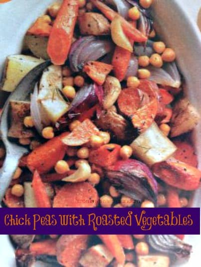 chick peas and roasted vegetables #food #nom
