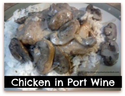 This Chicken in Port wine recipe is a combination of chicken, cream, and mushrooms. Ask me and I will confess to you that is one of the great combinations of food. It's the kind of dish you serve as comfort food or when entertaining guests.