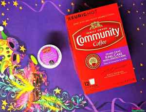 community coffee mardis gras king cake coffee k-cups