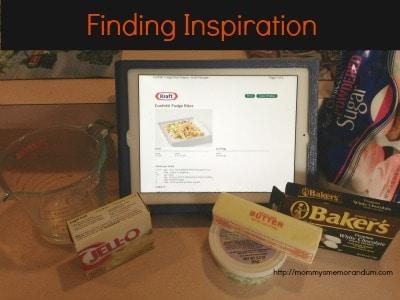 confetti fudge, finding inspiration