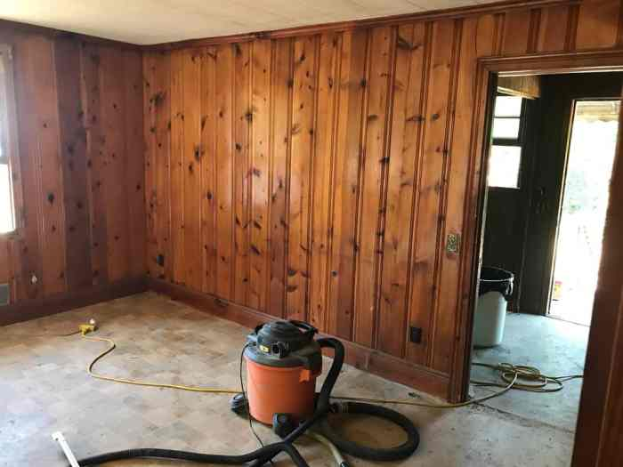 dad's house home remodel view of paneling