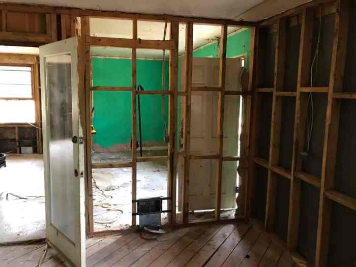 dad's house home remodel walls removed between great room and laundry room