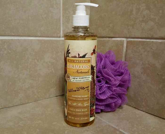 dr jacobs honey almond castile body wash