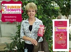 dunkin donuts strawberry shortcake