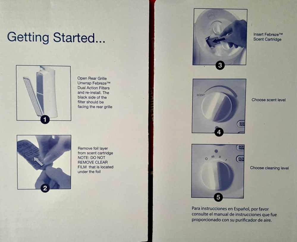 febreeze air purifier getting started