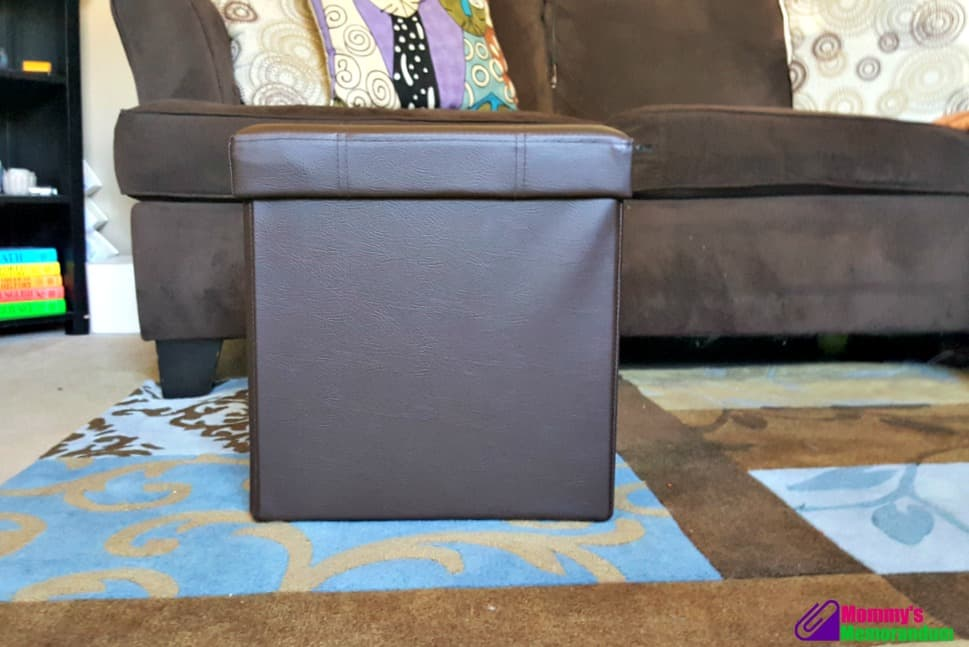 fhe foldable storage ottoman assembled