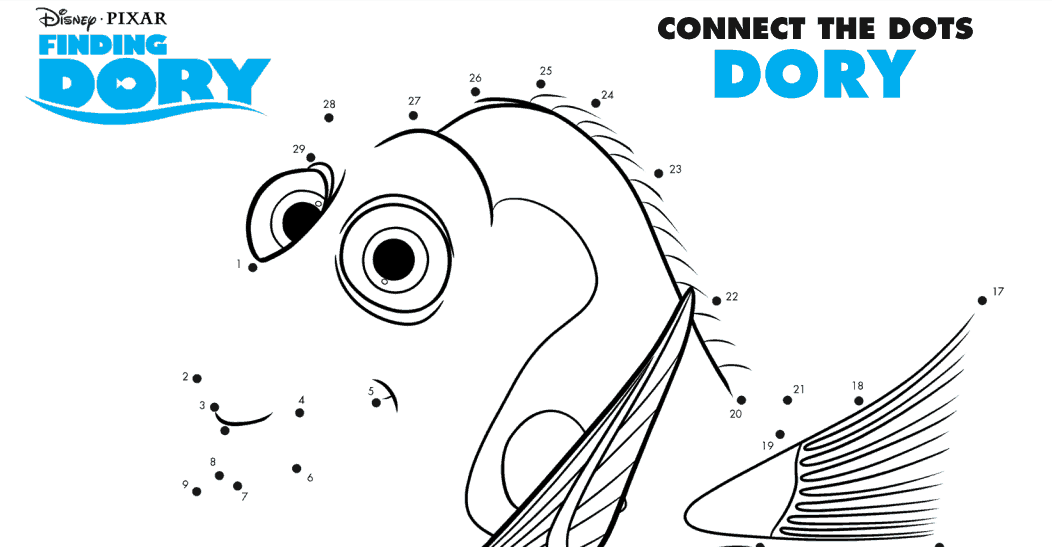 Finding Dory FREE Activity Sheets And Coloring Pages