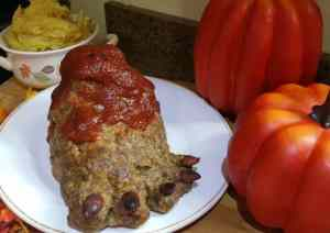 foot meatloaf front view