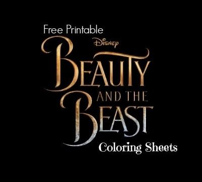 Free Printable Beauty and the Beast Coloring Sheets #BeOurGuest