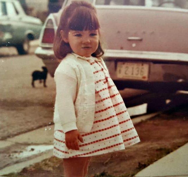 girl in easter dress