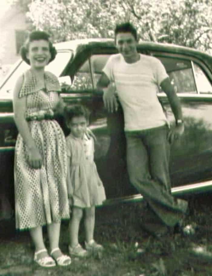 grandma and grandpa with mom